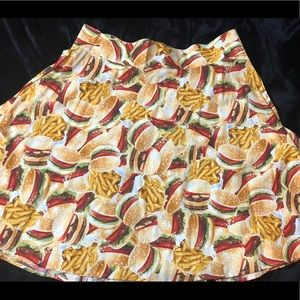 Retrolicious Burgers and Fries Swing Skirt!